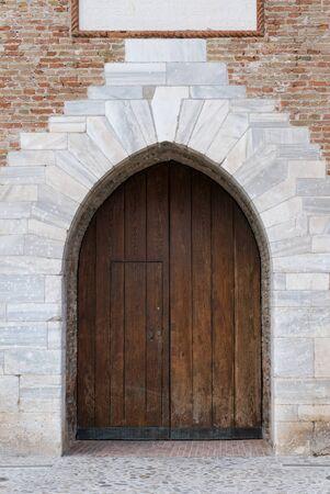 Old wooden door  ,italy
