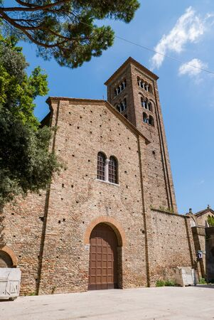The Basilica of San Francesco is a major church in Ravenna. It was first built in 450 by Neo, bishop of Ravenna, and dedicated to saint Peter and Saint Paul. It was later also known as the Church of the Apostles (Chiesa degli Apostoli).