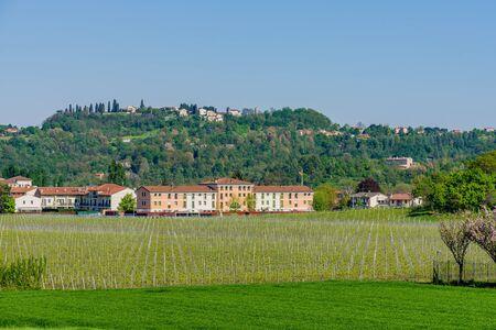 Beautiful countryside landscape in Altavilla Vicentina, Veneto