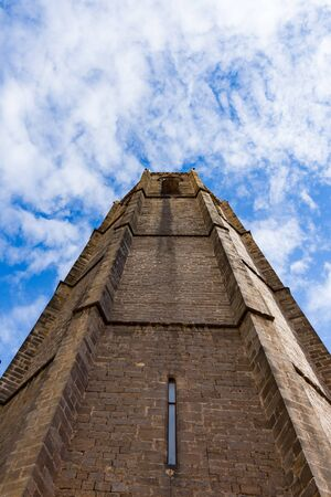 Esglesia de Santa Maria del PI, detail of the ancient tower. Barcelona, Spain.