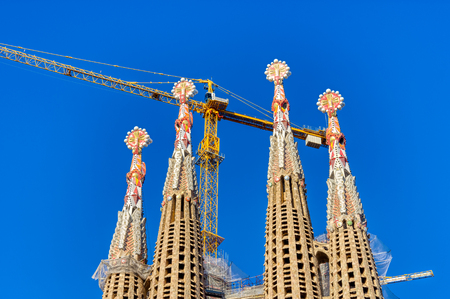 The Sagrada Familia  the cathedral designed by Gaudi, Barcelona, Spain Editorial