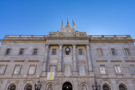 City Hall of Barcelona., in Placa de Sant Jaume. Barcelona, Spain.