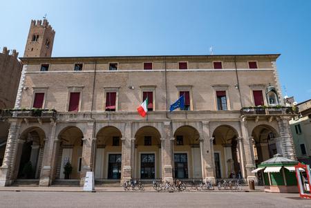 RIMINI - 7 AUGUST 2018: Rimini City Hall on Cavour square in Rimini, Italy