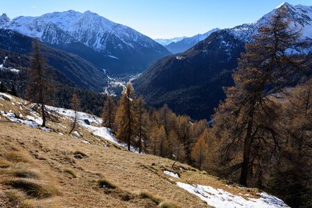 View of Val d'Ayas on Valle dAosta. Italy
