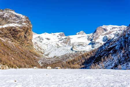 Refuge in the Val dAyas, Valle dAosta. Italy