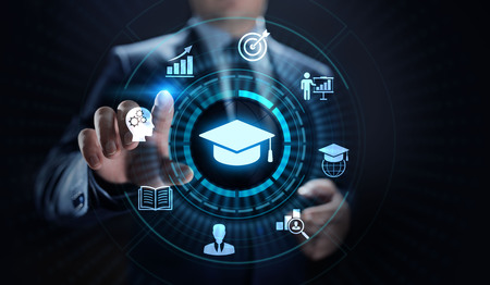 Education technology E-learning Online Training Webinar Seminar Knowledge Business Personal Development. Фото со стока