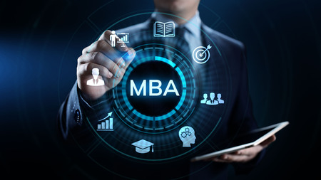 MBA Master of business administration Education concept. Stok Fotoğraf