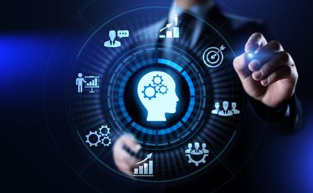 Training webinar Business development education concept on screen. Banco de Imagens