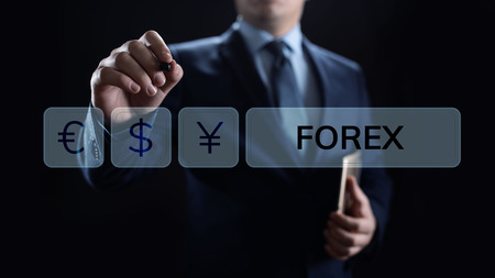 Forex trading currency exchange rate internet investment business concept.