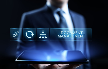 Document management DMS System Digital rights management. Stock Photo