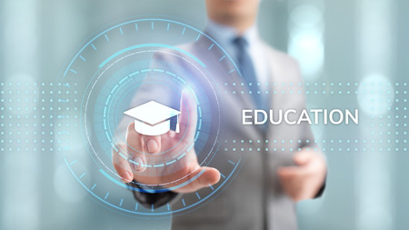 Education technology E-learning Online Training Webinar Seminar Knowledge Business Personal Development. Archivio Fotografico