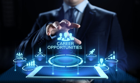 Career opportunity personal growth business concept on screen.