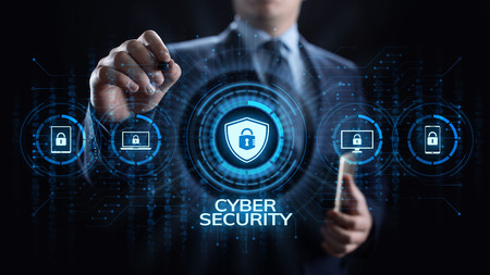 Cyber security data protection information privacy internet technology concept. 스톡 콘텐츠