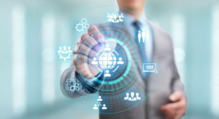 Outsourcing globale di reclutamento Business e concetto di internet.