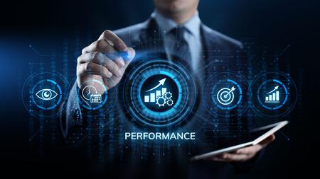 KPI key performance indicator increase optimisation business and industrial process. 스톡 콘텐츠