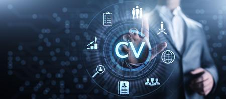 Send CV, Resume, Recruitment, Employment, Hiring Business Concept. 스톡 콘텐츠