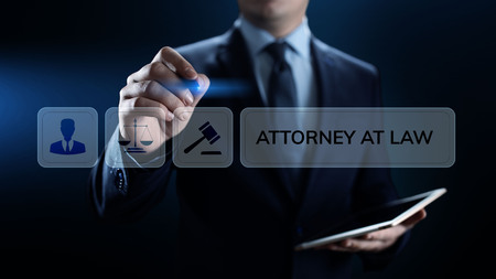 Attorney at law lawyer advocacy legal advice business concept.