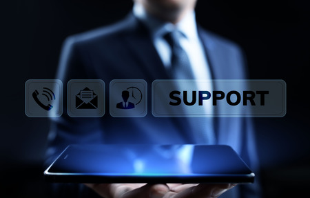 Support Customer Service Quality assurance Business Technology concept. Stock Photo