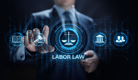 Labor law, Lawyer, Attorney at law, Legal advice business concept on screen. Фото со стока