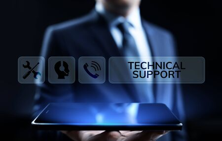 Technical support customer service guarantee quality assurance concept.