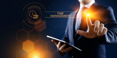 Time management project planning business internet technology concept.