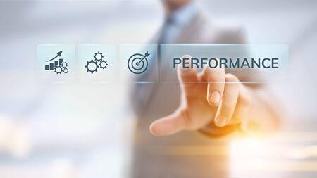 El indicador clave de rendimiento de KPI aumenta la optimización del proceso empresarial e industrial.