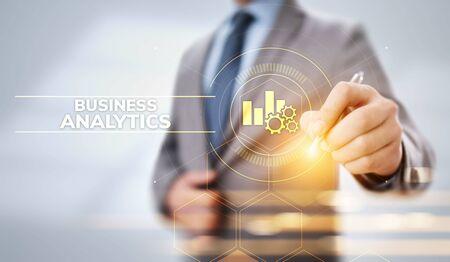 Business analytics intelligence analysis BI big data technology concept. Banco de Imagens