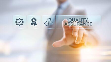 Qualitätssicherung, Garantie, Standards, ISO-Zertifizierung und Standardisierungskonzept.
