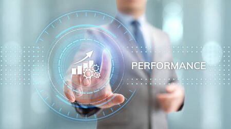 KPI key performance indicator increase optimisation business and industrial process. Stok Fotoğraf