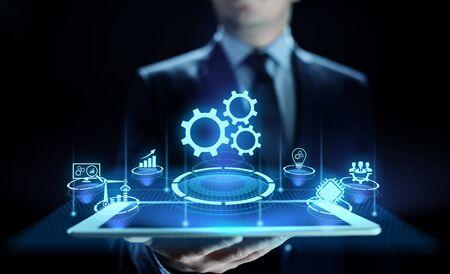 Business process automation industrial technology innovation optimisation concept. Zdjęcie Seryjne