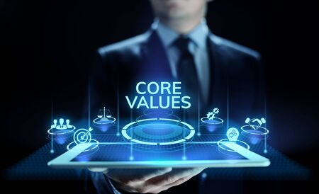 Core values responsibility Company Ethical Business concept.