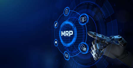 MRP Material Requirement planning Manufacturing Industry Business Process automation. Reklamní fotografie