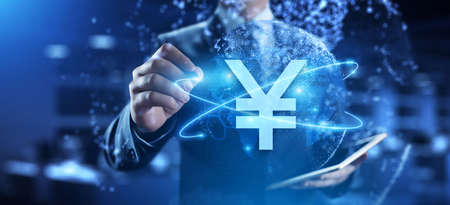 Yen Currency Exchange Forex Business Banking Business Finance Concept.