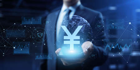Yen Currency Exchange Forex Business Banking Business Finance Concept. Reklamní fotografie