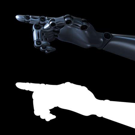 Hand of a robot. Internet technology concept. 3D rendered illustration.