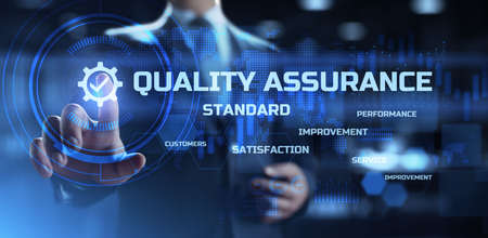 Quality assurance. Standards control and Certification. Business and technology concept.