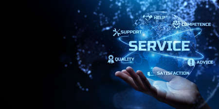 Customer technical service warranty quality assurance business concept.