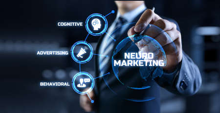 Neuromarketing. Sales and advertising marketing strategy concept. Stock Photo