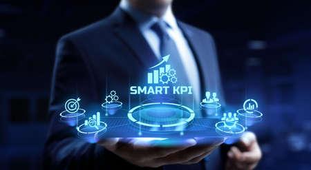 Smart KPI Key performance indicator business technology concept.