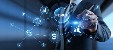 Forex currencies exchange stock market trading investment concept on screen.