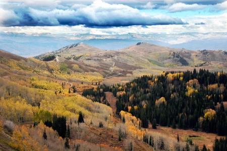 Top of the mountains between Brighton Ski Resort and Park City Utah Фото со стока