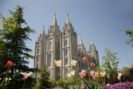 ソルト レイク シティ ユタ州のソルトレーク LDS 教会神殿 写真素材