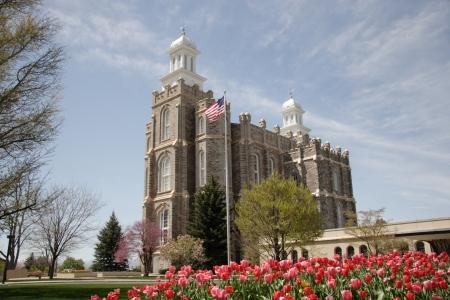 mormon temple: LDS Logan Utah Temple