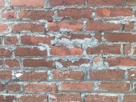 Improper Brick masonry work using cement mortar and image captured prior to plastering work of an wall or partition at an ongoing construction of an residential building