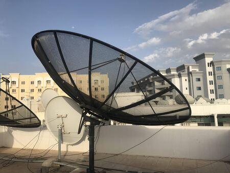 umbrella antennas radiate vertically polarized ground waves in an omnidirectional radiation pattern and which is fixed in terrace of an high rise building telecommunication purposes