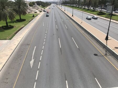 Both Way roads or Express highways with multiple lanes in between Interlocks for pedestrian ways made and installation of Street or flood lights for driving