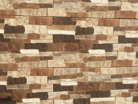 Exterior wall tiles with different colors pattern designs and abstract background for an Exterior wall finishes like residential home villa or Compound wall finishes