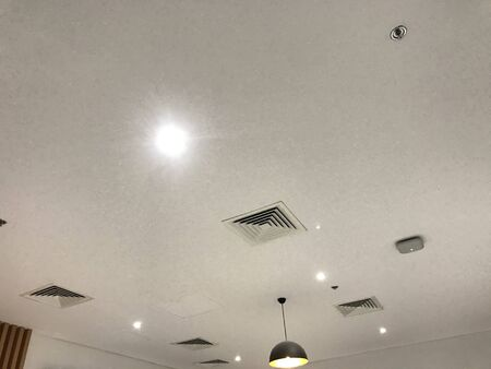 Suspended Gypsum false ceiling interiors view images painted with emulsion painted to look more decorative ceilings architecture design for an commercial buildings