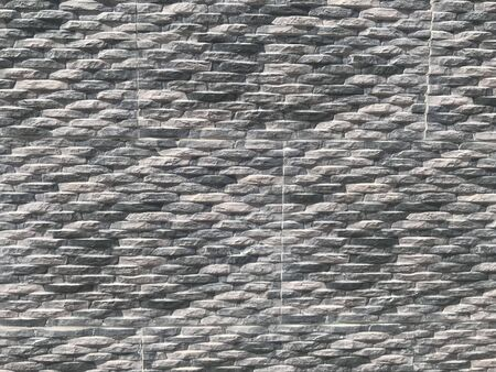 Compound wall or Residential building villa Exterior Wall tiles with Stone pitching pattern abstract background