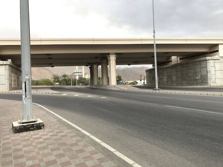 Flyover or bridge roads supported by pillars and concrete supports both sides for better vehicle movement and infrastructure